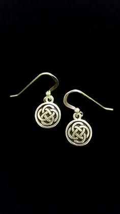Celtic Earrings on Sterling Silver Earwires