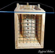 Insektenhotel Insektennisthilfe Nisthilfe Esche  ash Bohrungen im Hartholz hard woodinsect hotel nisting aid wildbee bug house Bohrungen im Hartholz