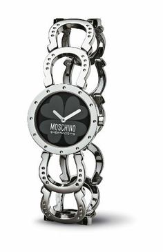 Moschino MW0039 Women's Black Dial Stainless Steel Watch