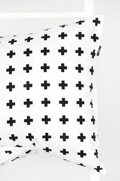 Via Envelop | Plus Minus Pillow by Bildschœn | Black and White