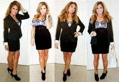 Black and White Outfit #blazer #pearls - http://www.beauty101bylisa.com/2014/10/happy-halloween-black-and-white.html
