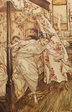 """1975 full Color Plate /"""" The Pit and the Pendulum /"""" by Arthur Rackham"""