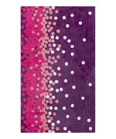 Look at this #zulilyfind! Pink & Violet Scatter Abigail Rug #zulilyfinds