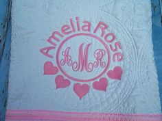 A personalized baby quilt is one of the most cherished baby gifts personalized baby quilt quilt baby quilt personalized quilt monogrammed quilt baby negle Image collections