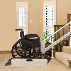 Have stairs and you have a wheelchair but don't want to move - this is a great product for #aginginplace #qca Incline Lift