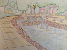 esta imagen se trataba de realizar un dibujo mas elaborado y con colores de algún sitio de mi ciudad,en el utilicé lápiz,una regla para las lineas y lapices de colores.