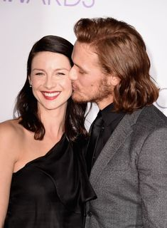Sam Heughan and Caitriona Balfe may play love interests as Jamie Fraser and Claire Randall on Outlander, but sadly, they're only friends in real life. Jamie Fraser, Claire Fraser, Jamie And Claire, Sam Heughan Outlander, Caitriona Balfe Outlander, Is Sam Heughan Married, Sam Heughan Dating, Sam Heughan Actor, Emily Vancamp