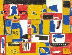 """El Hurgador [Arte en la Red]: Uruguayos Julio Alpuy """"Naturaleza Muerta, El Día"""", 1946, óleo sobre cartón, 39x50 cm"""