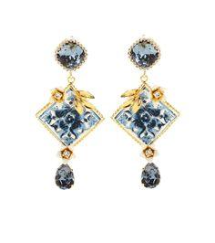 mytheresa.com - Embellished Clip-On Earrings ☆ Dolce & Gabbana ∫ mytheresa.com - Luxury Fashion for Women / Designer clothing, shoes, bags