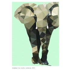 elephant art print | cool prints from Studio Cockatoo