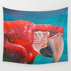nature, brasil, brazil, bresil...  https://society6.com/product/scarlet-macaw-nbv_tapestry?curator=edualpeirano