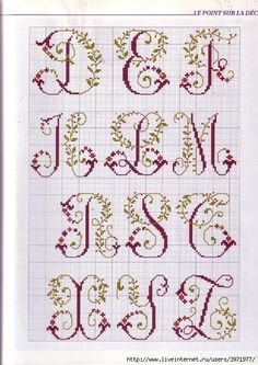frilly alphabet