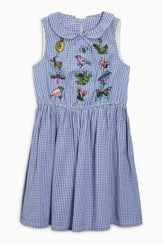 Buy Blue Gingham Dress (3-12yrs) from Next Netherlands