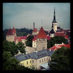 Colorful towers in Tallinn    Tallinn Tallinn Tallinn  Estonia  www.tallinn.com/live Towers, Cathedral, Colorful, Mansions, Live, House Styles, Building, Home Decor, Decoration Home