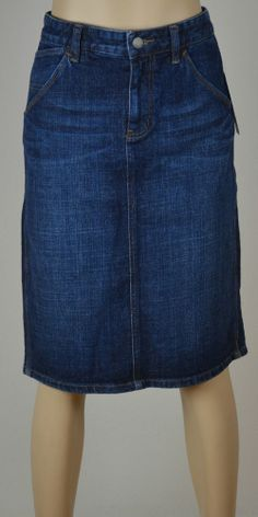 NWT Ralph Lauren Lauren Jeans Co. Dark Blue Jean Skirt size 4 $39.99 with FREE SHIPPING.