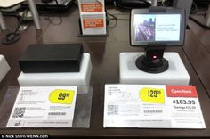 The 'useless plastic boxes' with detailed product tags have appeared at Best Buy stores around Los Angeles