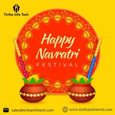 May the divine blessings of Maa Durga bring happiness, peace, and harmony to everyone's life. Happy Navratri! #Navratri2020 #Navratriwishes #Navaratri #navaratri2020 #maadurga #DurgaPuja #HappyNavratri #happynavratri2020 #नवरात्रि #TirthaInfotech #ITIndustry Navratri Wishes, Happy Navratri, Dussehra Images, Navratri Festival, Durga Puja, Indian Festivals, Marketing Consultant, Festival Posters, Software Development