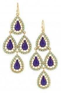 Stella & Dot Jewelry - Seychelles earrings - on Desiree Hartsock - Jimmy Kimmel Live #thebachelorette