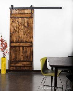 for the laundry room. Barn Door Kit And Barn Door Hardware Combo All in One - http://RusticaHardware.com/
