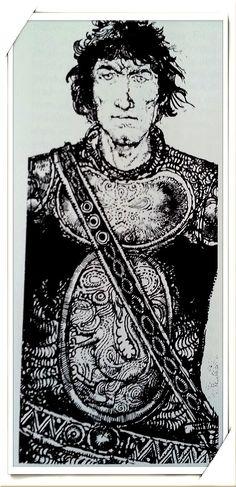 FËANOR Ilustración de Victor Ambrus, de Tolkien Enciclopedia Ilustrada, David Day, pag.245.
