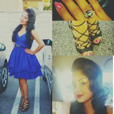 Cobalt blue, my best friend! Hair by Leslye Rox, heels Steve Madden, ring Put on the Ritz & dress w belt WardrobeDivas.com Putting On The Ritz, Put On, Black Belt, Cobalt Blue, My Best Friend, Steve Madden, Summer Dresses, Ring, My Style