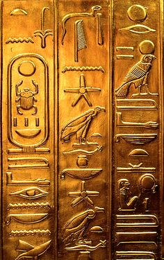 Ancient Egypt ©: Egyptian Hieroglyphics Replica from the Tutankhamun Exhibition currently at Brussels. Ancient Aliens, Ancient Egypt Art, Ancient Artifacts, Ancient History, Ancient Greece, Objets Antiques, Art Ancien, Art Antique, Ancient Civilizations