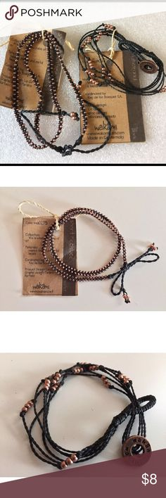 Wakami black wrap bracelet Short necklace Lot/2 Brand new with original retail tags. Look at bundling to save money!! wakami Jewelry