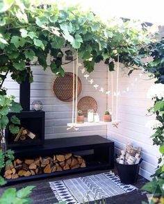 Small Backyard Ideas - Also if your backyard is small it additionally can be extremely comfy as well as inviting. Having a small backyard does not imply your backyard landscaping . Outdoor Areas, Outdoor Rooms, Outdoor Living, Outdoor Decor, Outdoor Fire, Indoor Outdoor, Backyard Patio, Backyard Landscaping, Landscaping Ideas