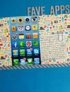 Fave Apps by Alexa Gill. This layout used a Sketch template from the Simple Scrapper's Premium Membership