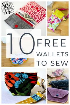 Sewing Patterns Free, Free Sewing, Sewing Tutorials, Diy Wallet Sewing Pattern, Bag Patterns, Sewing Ideas, Free Pattern, Christmas Sewing Projects, Small Sewing Projects
