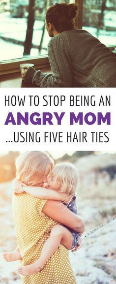 Angry mom? This simple trick using 5 hair ties will make you go from angry mom to happy mom. And the BEST part is how your kids will react! When you're struggling with your temper, this will get you back on track to enjoying motherhood. #parentingtipscharts