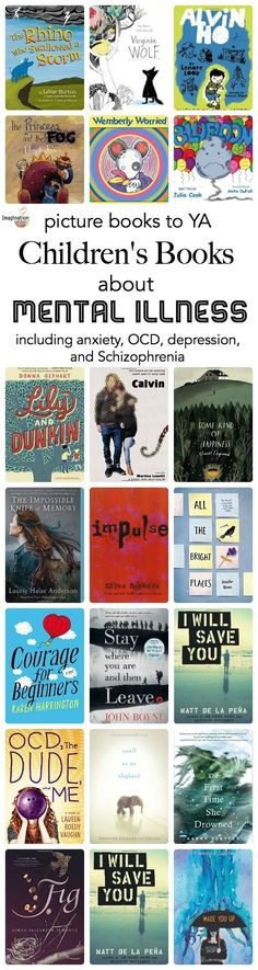 Build empathy with children's books about mental illness such as anxiety, depression, and OCD.