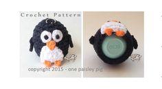 Penguin eos Lip Balm Holder - crochet pattern (cute ideas, diy, inspiration)