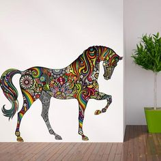 Horse of Many Colors Wall Sticker