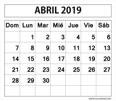 Calendario Numeros Grandes Septiembre 2019.Calendario