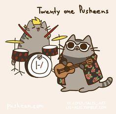 Pusheen starts a band. Twenty one Pusheens! (Twenty one Pilots) Art Twenty One Pilots, Twenty One Pilots Dibujos, Twenty One Pilot Memes, Tyler Joseph, Tyler E Josh, Ukulele, Chat Kawaii, Pusheen Cat, Indie Pop