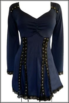 Midnight Blue ELECTRA Vampy Corset Top. I saw this on Amazon along with others. Love it!