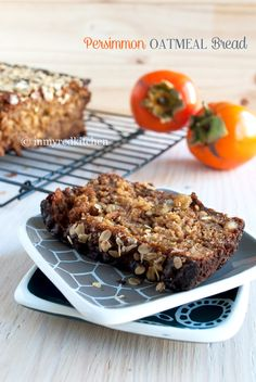 Persimmon oatmeal bread   in my Red Kitchen