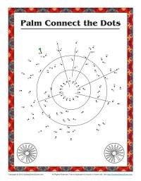 Children's Bible Story Connect the Dots Activity - Palm