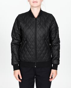 R-Collection Quilted bomber