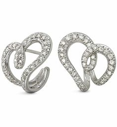 Diana Vincent - Heart Earrings with Diamonds