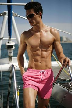 * salivating * | 17 Photos That Prove Short Swim Trunks For Men Are Heaven On Earth.[ HGNJShoppingMall.com ] #bathingsuit