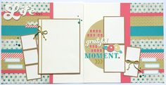 'Making Connections CTMH' Seaside Scrapbook Layout Kit