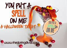 You Put a Spell on Me is a quick way to show someone you love them this Halloween. www.TheDatingDivas.com #Halloween #HalloweenCraft #YouPutaSpellonMe