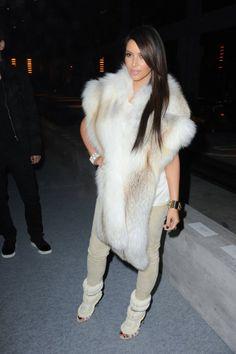 Kim Kardashian looking so winter chic #sundance2014