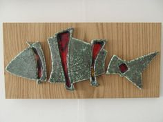Ceramic Wall Hanging Handmade Pottery on Wood Wall by CandanImrak, $40.00