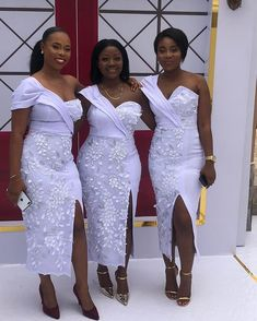 African Bridesmaid Dresses, African Lace Styles, African Wedding Attire, Bridesmaid Dress Styles, Latest African Fashion Dresses, African Dresses For Women, Bridesmaids, Lace Styles For Wedding, Lace Dress Styles