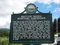 NH Road Marker Bretton Woods Monetary Conference