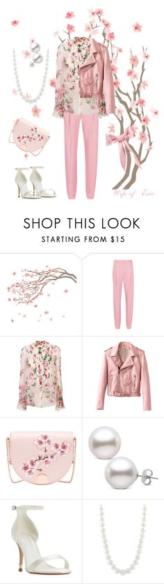 """""""Leather & Pearls"""" by wifeoferic ❤ liked on Polyvore featuring TIBI, Dolce&Gabbana, Ted Baker, Dune, Masako and Jennifer Behr"""