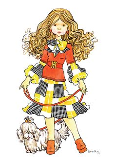 by Sarah Kay Sarah Kay Imagenes, Sara Kay, Creation Art, Vintage Drawing, Holly Hobbie, Love Illustration, Australian Artists, Vintage Comics, Vintage Pictures